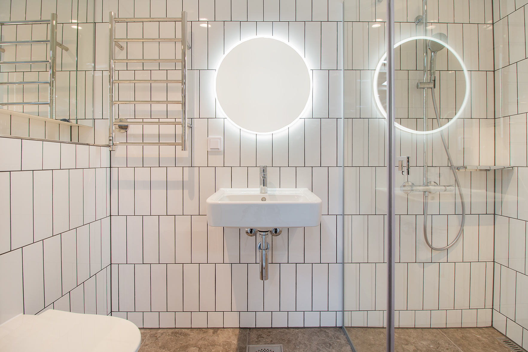 Modular bathroom pods for the Music Tower Hotel in Helsinki